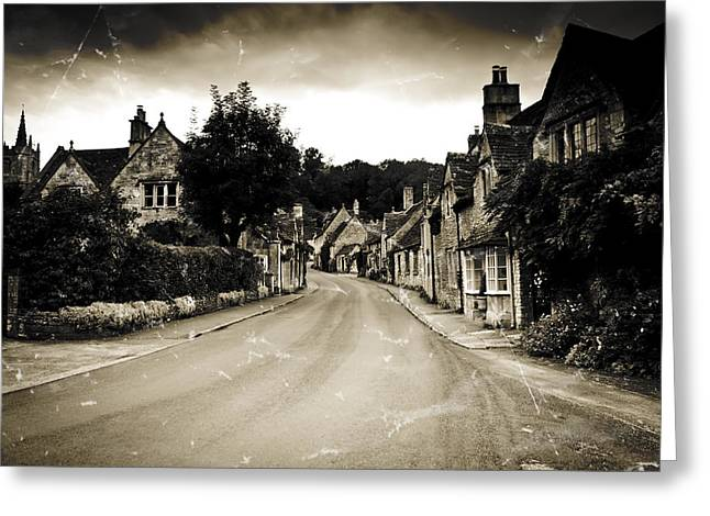 Castle Combe  Greeting Card by Stewart Scott