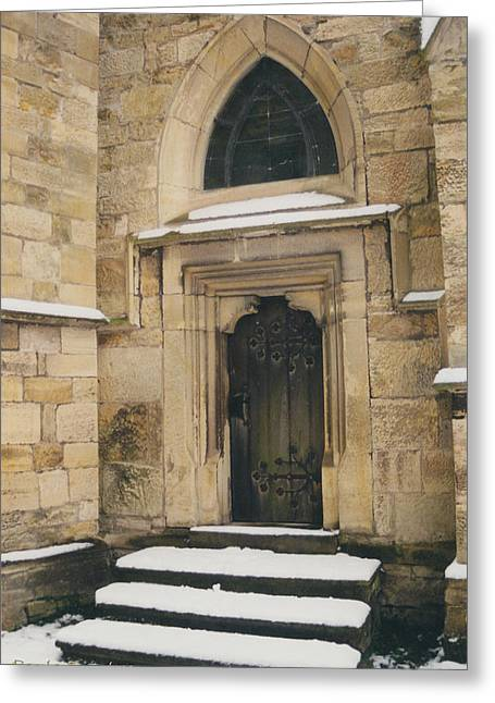 Castle Door Greeting Card by Paula Rountree Bischoff