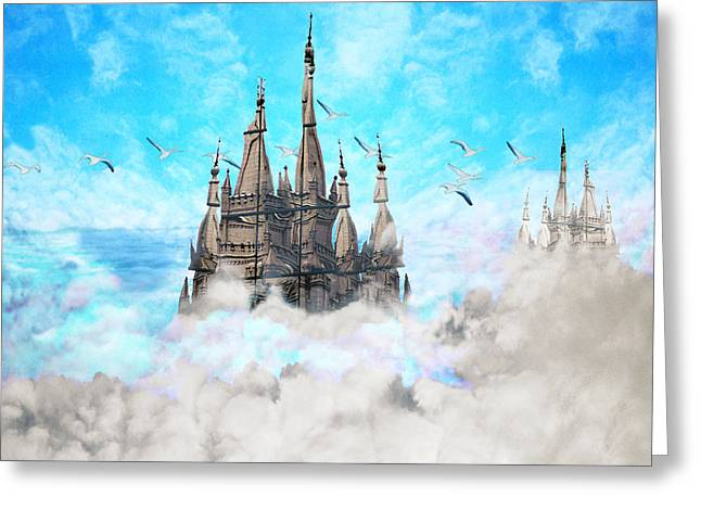 Castle-galleons Greeting Card by Lisa Yount