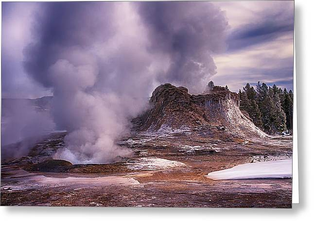 Castle Geyser Greeting Card