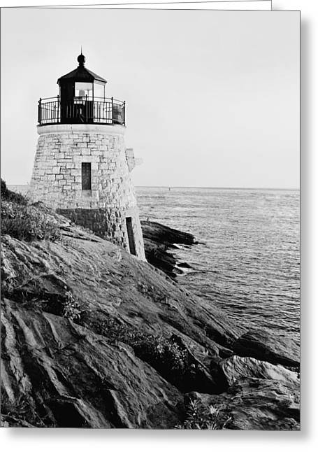 Castle Hill Bw 1 Greeting Card by Marianne Campolongo