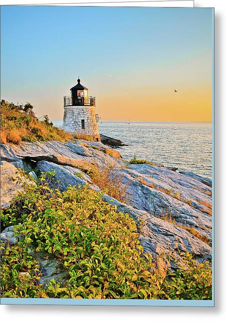 Castle Hill Lighthouse 1 Newport Greeting Card
