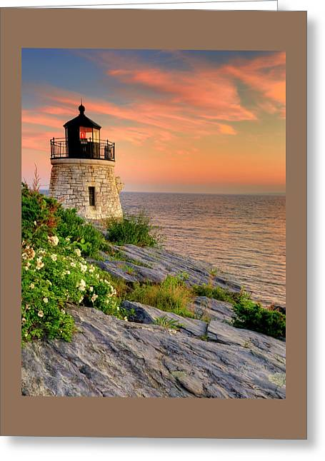 Castle Hill Lighthouse-rhode Island Greeting Card