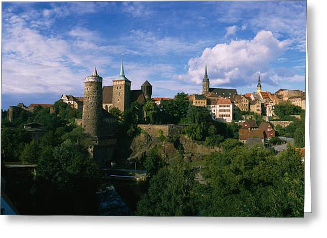 Castle In A City, Bautzen, Saxony Greeting Card by Panoramic Images
