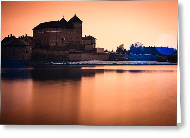 Castle In Artistic Infrared Image Greeting Card