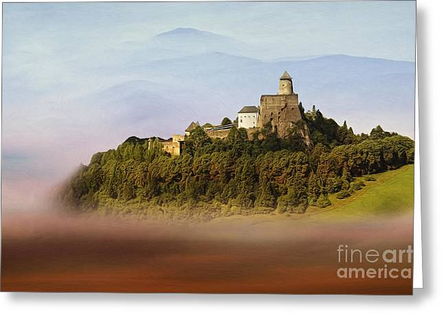 Castle In The Air Iv. - Lubovna Castle Greeting Card by Martin Dzurjanik