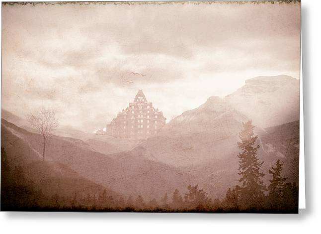 Castle In The Mountains Greeting Card
