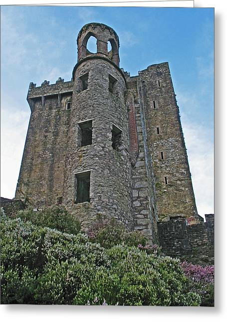 Castle In The Sky Greeting Card by Kathleen Scanlan