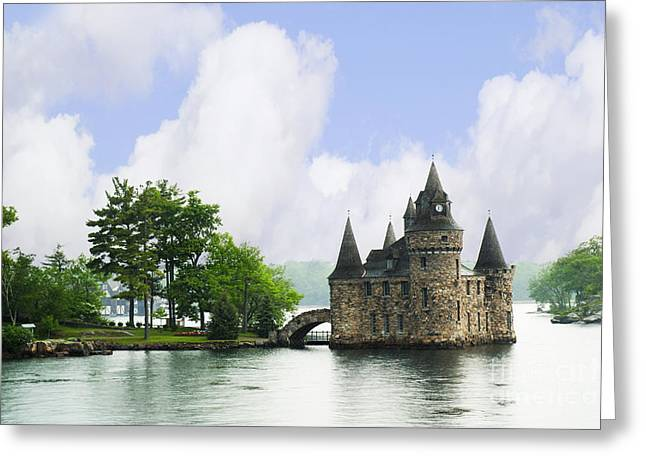 Castle In The St Lawrence Seaway Greeting Card