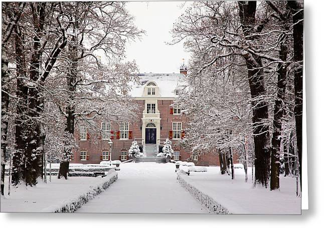 Greeting Card featuring the photograph Castle In Winter Dress  by Annie Snel