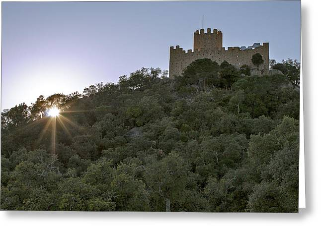 Castle Greeting Card by Joel Cereza