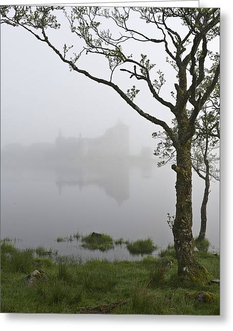 Castle Kilchurn Tree Greeting Card by Gary Eason
