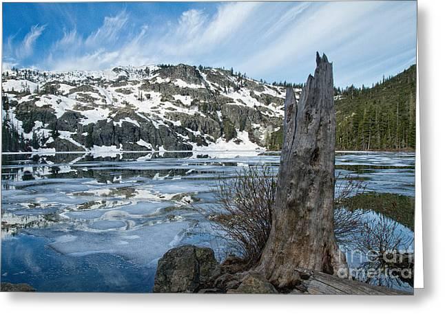 Castle Lake At Dawn Greeting Card