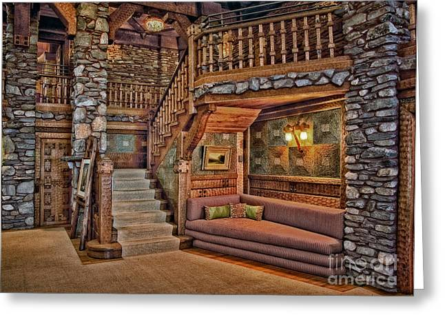 Castle Living Room Greeting Card by Susan Candelario
