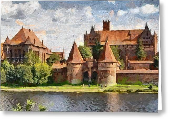 Castle Malbork Poland Greeting Card