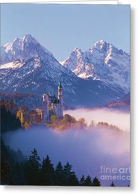 Castle Neuschwanstein, Germany Greeting Card by Hermann Eisenbeiss
