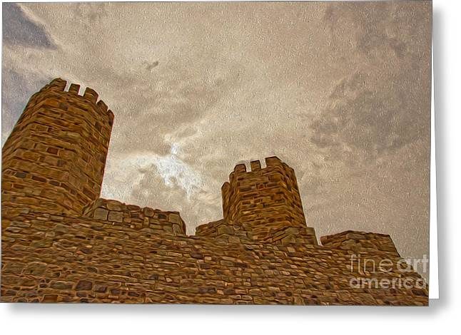 Castle  Greeting Card by Nur Roy