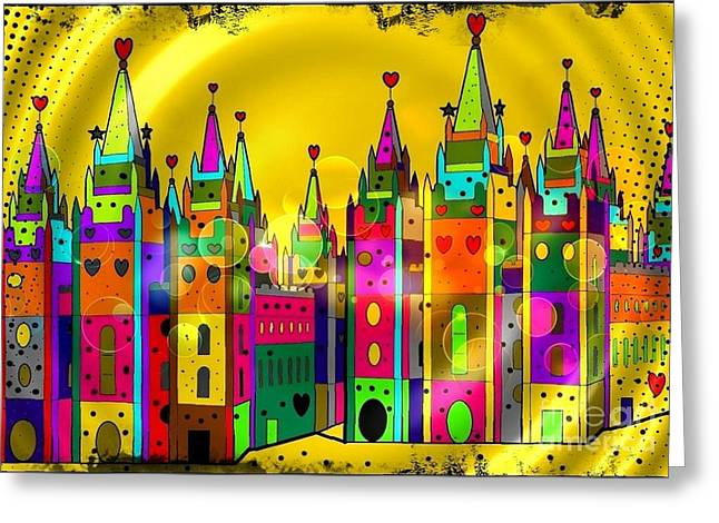 Castle Of Dreams By Nico Bielow Greeting Card by Nico Bielow