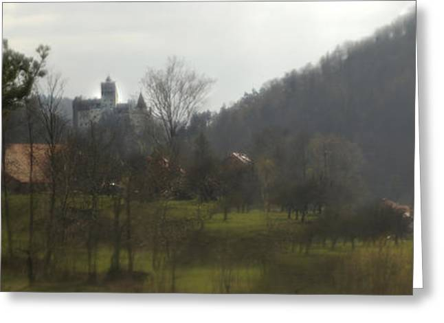 Castle On A Hill, Bran Castle Greeting Card by Panoramic Images