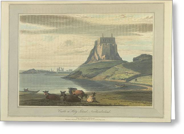 Castle On Holy Island Greeting Card by British Library