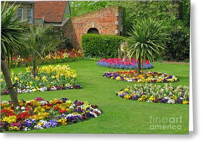 Castle Park Gardens  Greeting Card by Ann Horn
