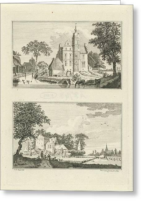 Castle Poelwijk In Oud Zevenaar And House Rijswijk Greeting Card by Artokoloro