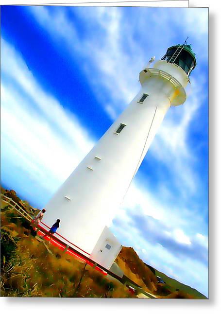 Castle Point Lighthouse Greeting Card