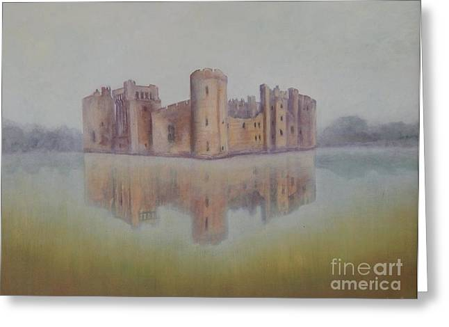 Bodiam Castle Greeting Card by Caroline Street