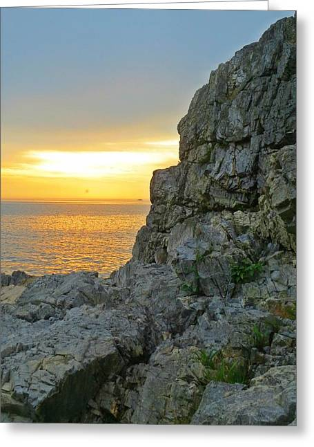 Castle Rock Greeting Card by Anne Sterling