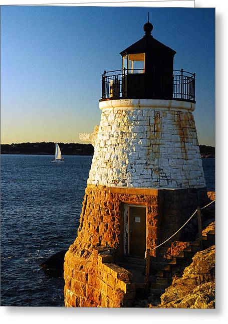 Greeting Card featuring the photograph Castle Rock Lighthouse by James Kirkikis