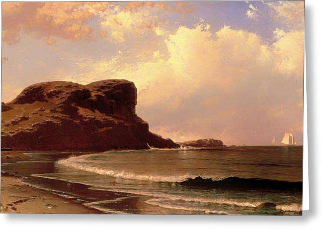 Castle Rock - Nahant Massachusetts Greeting Card by Mountain Dreams