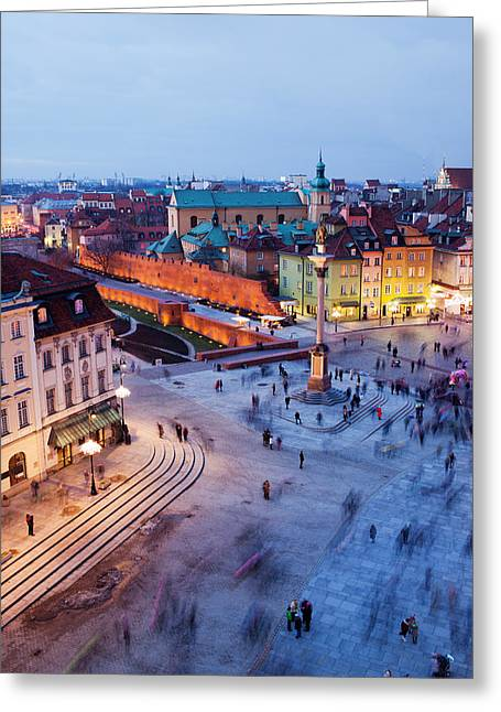 Castle Square In Warsaw Greeting Card by Artur Bogacki