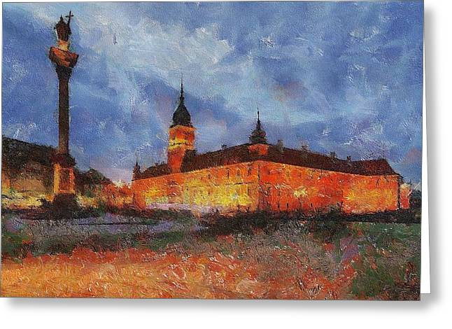 Castle Square In Warsaw Greeting Card