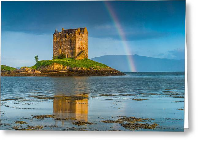 Castle Stalker Rainbow Greeting Card by David Ross