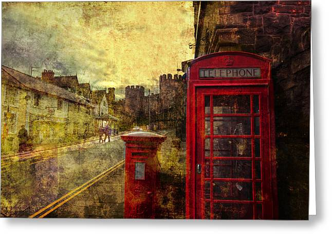 Castle Steet Conwy Greeting Card by Mal Bray
