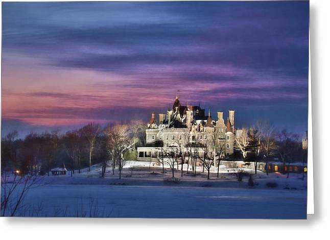 Castle Sunset Greeting Card by Lori Deiter