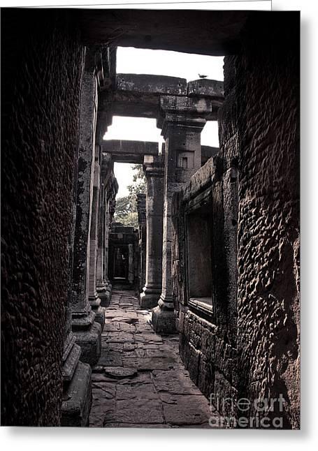 Castle Greeting Card by Thammasak Kanjananul