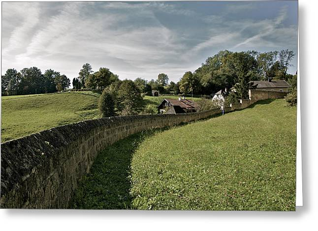 Castle Wall In Tittmoning Germany Greeting Card