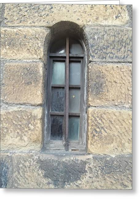 Castle Window Greeting Card