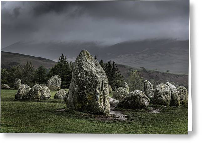Castlerigg Stone Circle Greeting Card by Chris Fletcher