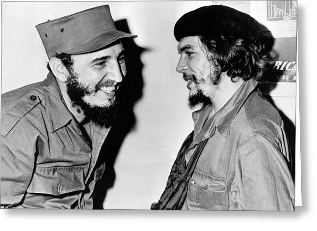 Castro And Guevara Greeting Card by Underwood Archives