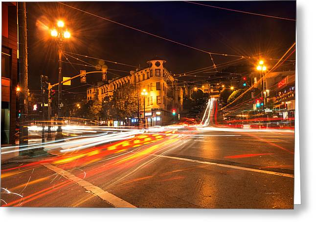 Castro District Greeting Card by Leland D Howard