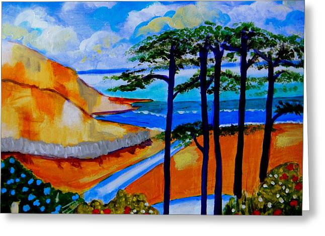 Caswell Bay Wales Greeting Card