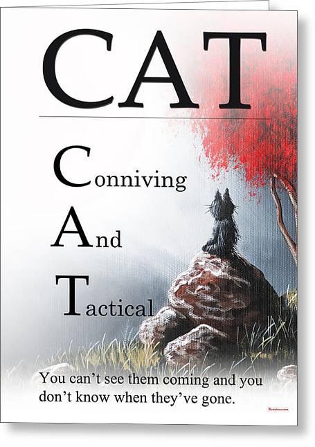 Cat Buseyism - Original Buseyism Artwork Greeting Card