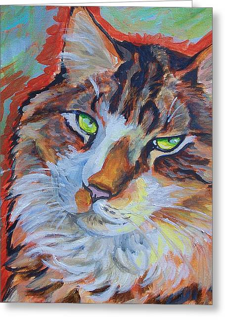 Cat Commission Greeting Card