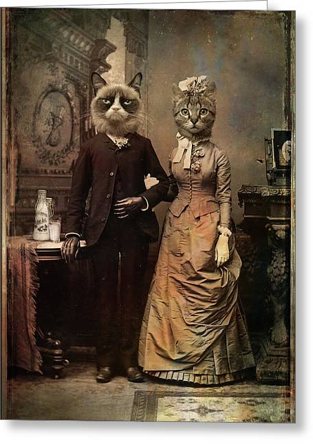 Cat Couple Greeting Card
