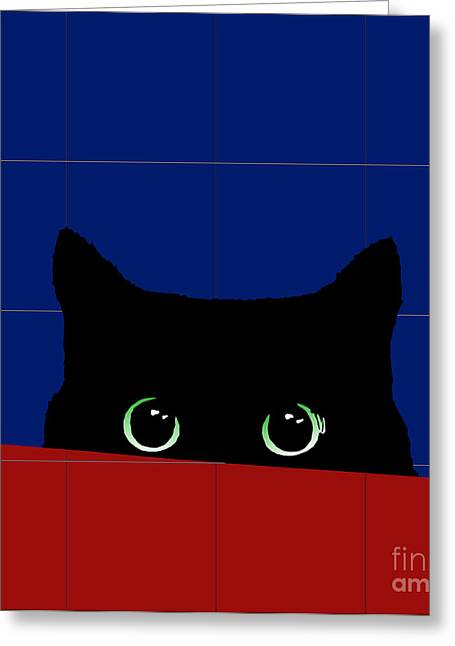 Cat Eyes Greeting Card by Roby Marelly