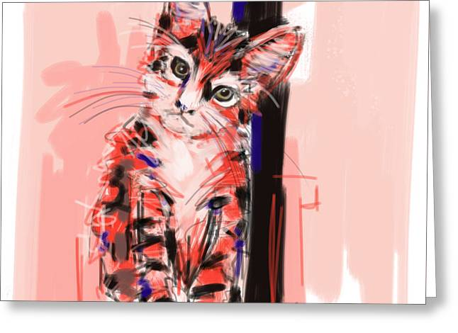 Cat I See You Greeting Card by Go Van Kampen