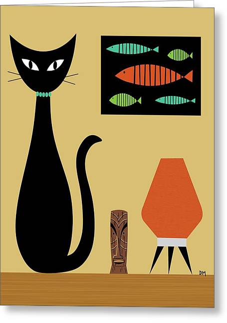 Cat On Tabletop Greeting Card