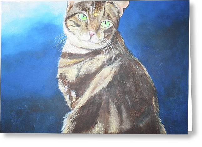 Cat Profile Greeting Card by Thomas J Herring